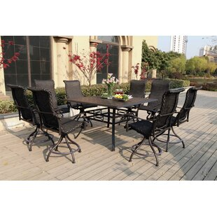 Darby Home Co Kentland 9 Piece Bar Height Dining Set