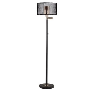 Buy clear Hardy 60.5 LED Swing Arm Floor Lamp By Springdale Lighting