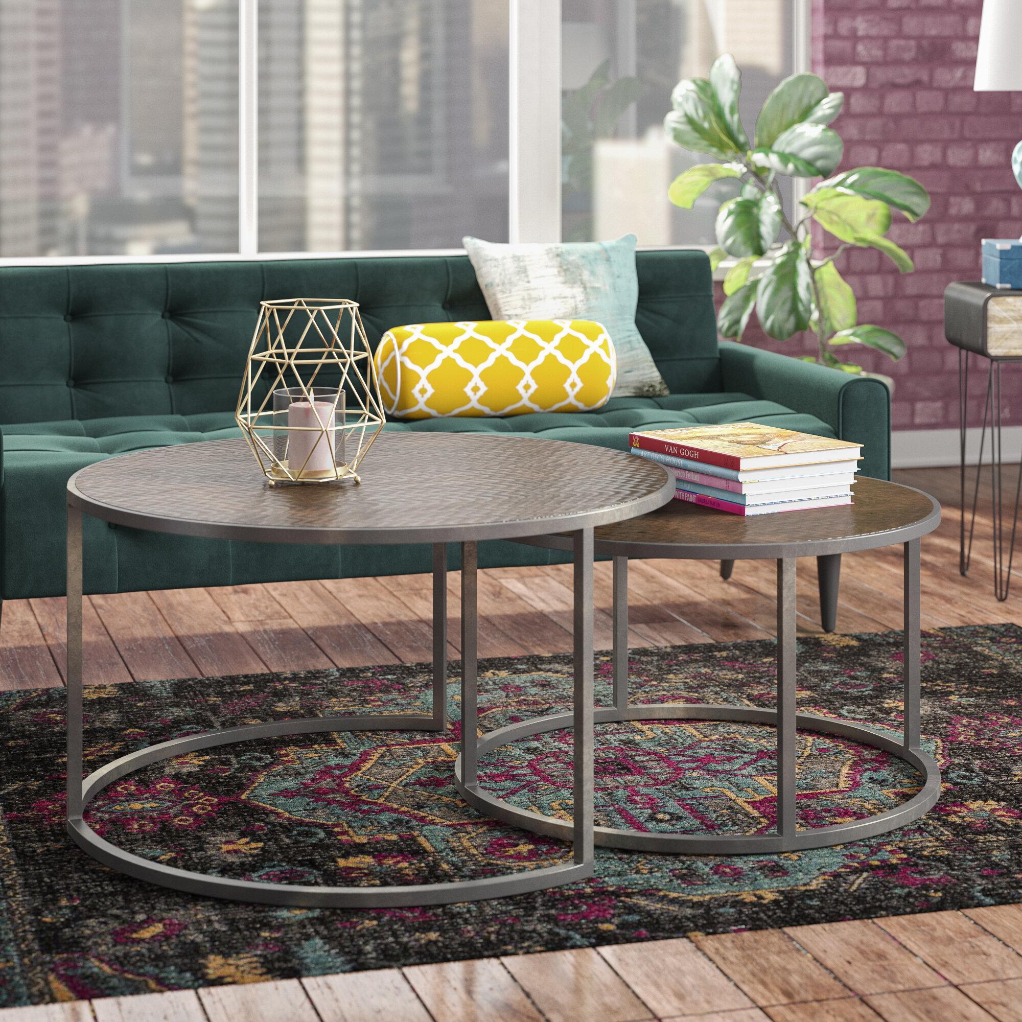 Williston Forge Swiney 2 Piece Coffee Table Set