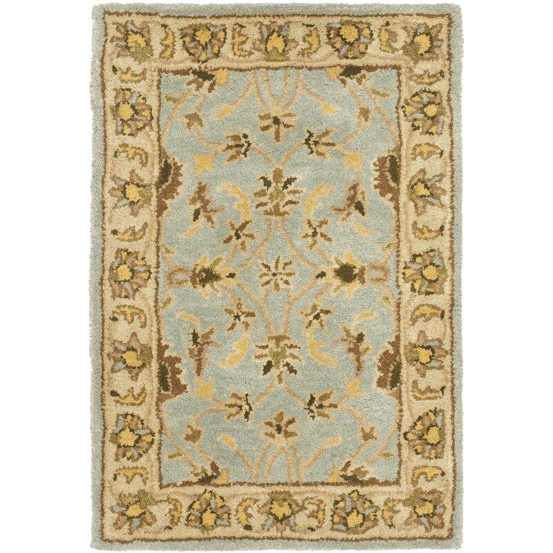 Charlton Home Cranmore Oriental Handmade Tufted Wool Light Blue Beige Area Rug Reviews Wayfair Ca