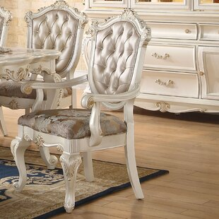 Wensley Scrolled Detail Trim Upholstered Dining Chair (Set of 2) by Astoria Grand