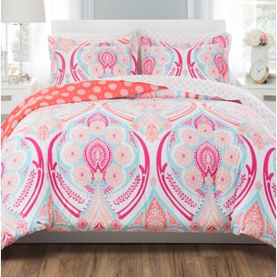 Bright Springtime Reversible Comforter Set by Nicole Miller