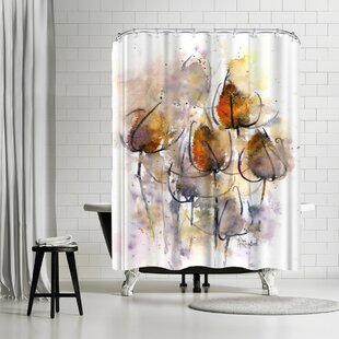 Rachel McNaughton Teasels Shower Curtain by East Urban Home