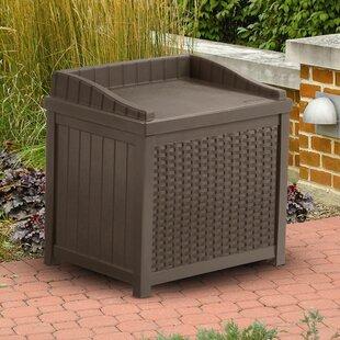 22 Gallon Resin Wicker Storage Bench By Suncast