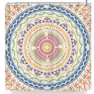 Deals Famenxt Boho Mandala In Soft Colors Shower Curtain ByEast Urban Home