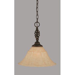 Pierro 1-Light Cone Pendant by Astoria Grand
