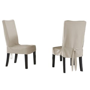 Dining Chair Short Slipcover by Serta
