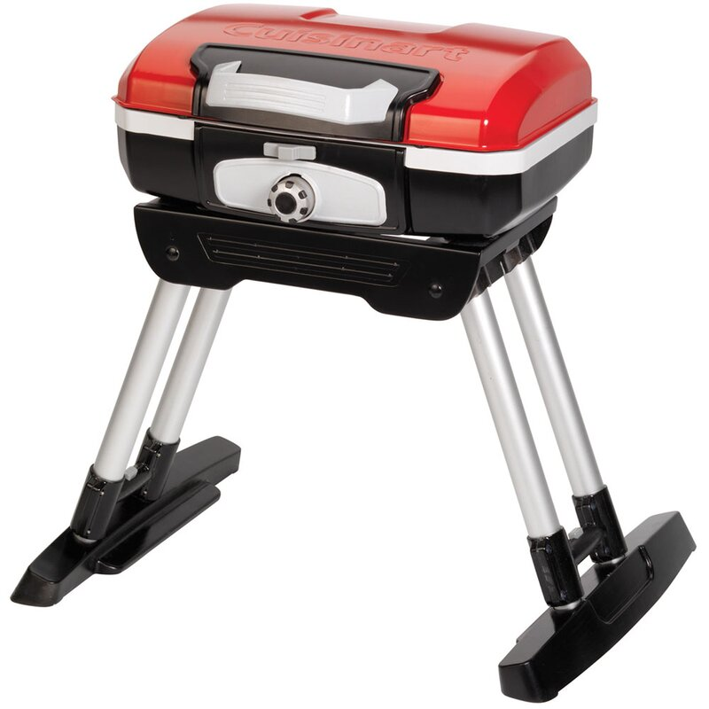 Petit Gourmet Portable Propane Gas Outdoor Grill With Versa Stand