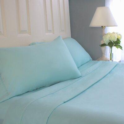 Sheet Set Cozy Bed Size: Full, Color: Aqua