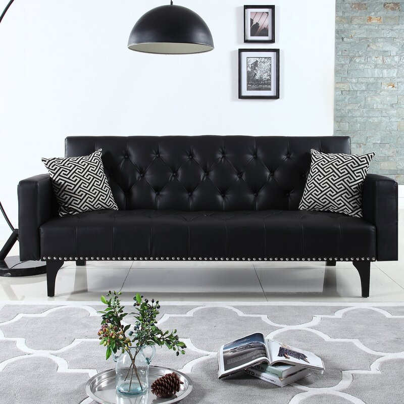 Rathbun Modern Tufted Reclining Sleeper Sofa