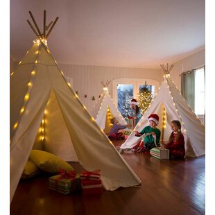 HearthSong Children's Cotton Canvas Play Teepee