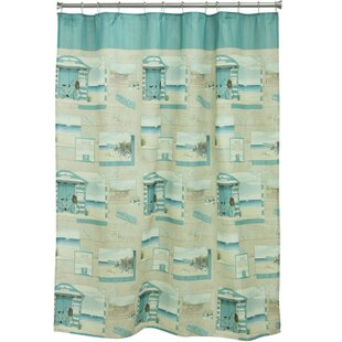 Beach Cruiser Polyester Single Shower Curtain