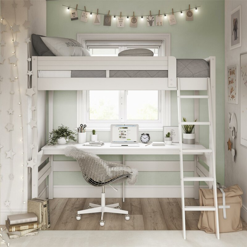 Strange Alfred Twin Loft Bed With Desk Home Interior And Landscaping Ponolsignezvosmurscom