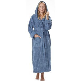 Hovis 100% Cotton Terry Cloth Bathrobe by Red Barrel Studio Find