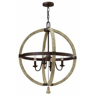 Lark Manor Oceane 4-Light Globe Chandelier