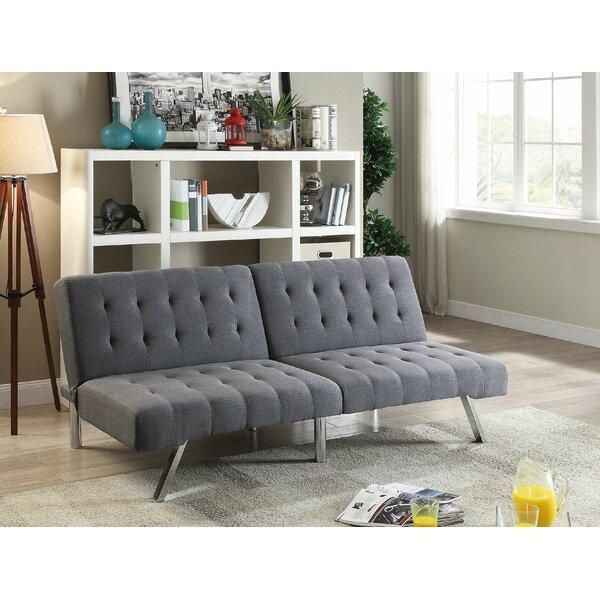 ivy bronx ina adjustable futon sofa  u0026 reviews   wayfair  rh   wayfair