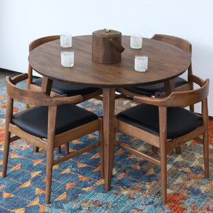 Burgan Solid Wood Dining Table Union Rustic