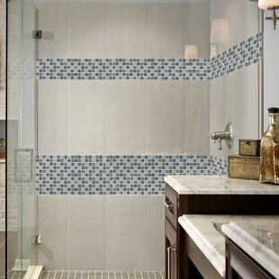 Awesome Majestic Ocean Glass Mosaic Tile In White