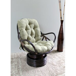 Rattan Swivel Papasan Chair