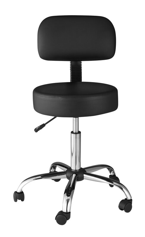 Attractive Adjustable Stool With Back Part - 14: Height Adjustable Medical Stool With Back Cushion