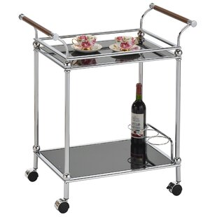 Tamra 2 Tier Glass Bar Cart by Wrought Studio