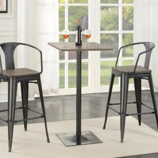 Mccown Industrial Square Metal Pub Table by Williston Forge