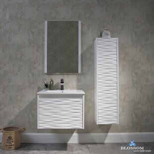 Compare Artesian 24.5 Single Bathroom Vanity Set with Mirror By Ivy Bronx