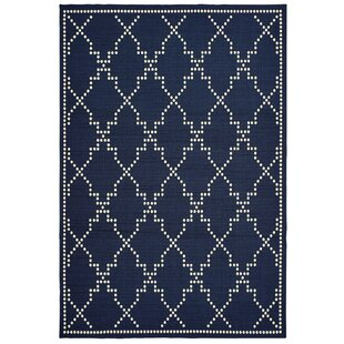 Salerno Lattice Navy Indoor/Outdoor Area Rug by Charlton Home