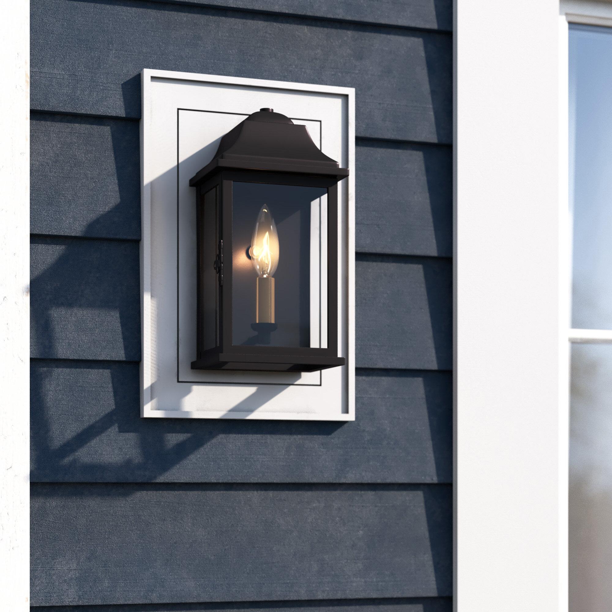 Charlton Home Cajigas Oil Burnished Bronze Outdoor Wall Lantern Wayfair Ca