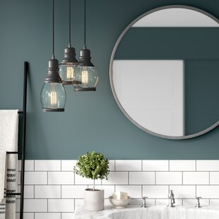 Best Price Taft Glass Jar 3-Light Cluster Pendant By Greyleigh