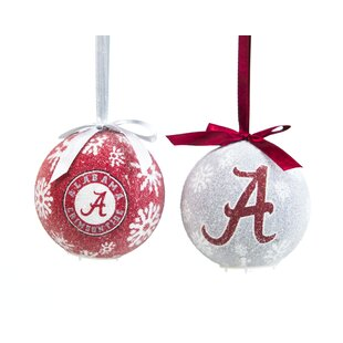 2 Piece NCAA LED Boxed Ball Ornament Set by Team Sports America