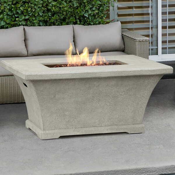 real flame monaco rectangle propane fire pit table  u0026 reviews