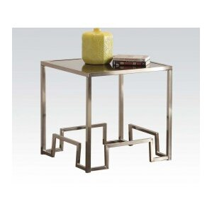 Damien Fabric End Table by ACME Furniture