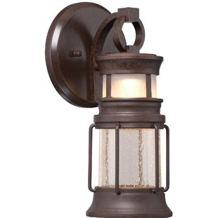 Inexpensive Harker 1-Light Outdoor Wall Lantern By Breakwater Bay