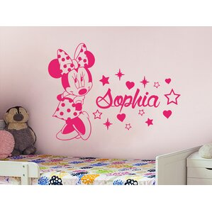 Minnie Mouse Personalized Name Wall Decal Part 74