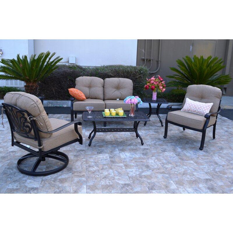 Darby Home Co Kristy 5 Piece Sunbrella Sofa Set With Cushions Reviews Wayfair