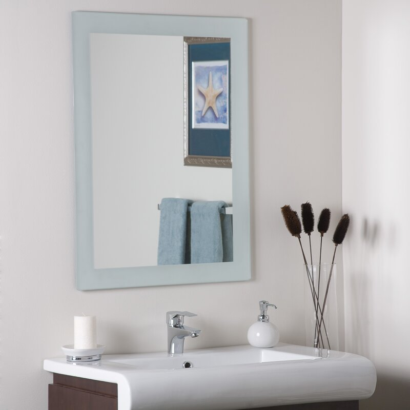 Rosecliff Heights Grendon Frameless Wall Mirror & Reviews ...