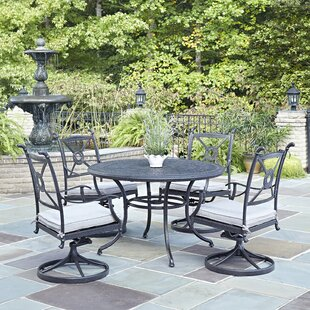 Darby Home Co Lansdale 5 Piece Dining Set with Cushions