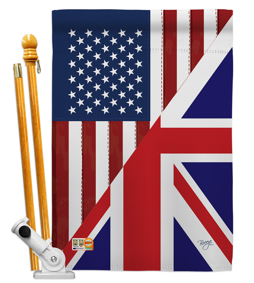 Breeze Decor American Uk Friendship The World Impressions 2 Sided Polyester 40 X 28 In Flag Set Wayfair