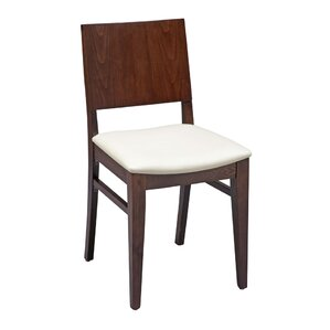 Tipping Beechwood Solid Back Seat Upholstered Dining Chair by Ivy Bronx
