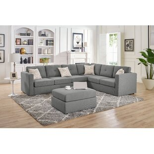 Lombardi Symmetrical Modular Sectional with Ottoman by Ivy Bronx