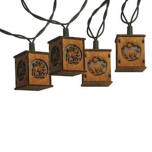 Kurt Adler 10 Piece Bear and Deer Lantern Light Set