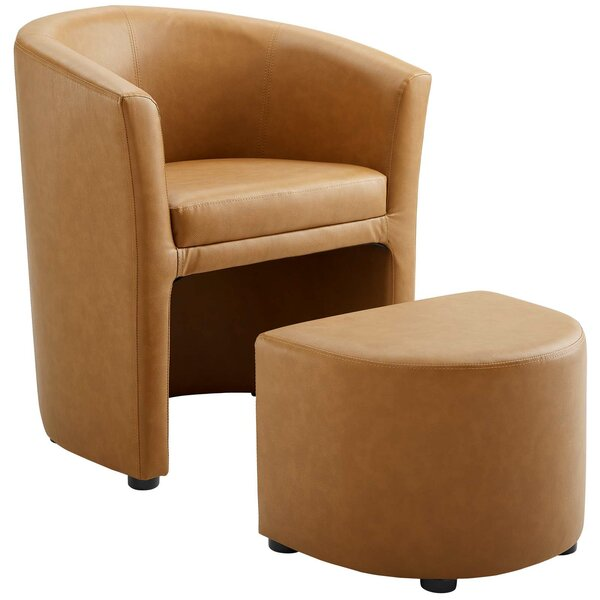 Surprising Tan Chair And Ottoman Wayfair Gmtry Best Dining Table And Chair Ideas Images Gmtryco