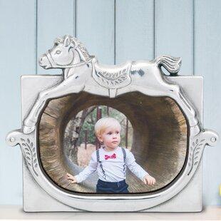 Arthur Court Designs Aluminum 5x7 Deer Antler Pattern Photo Picture Frame
