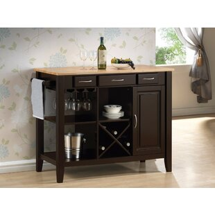 Kisner Casual Rubberwood Kitchen Island Alcott Hill