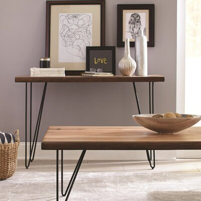 Ivy Bronx Nocona Solid Wooden Contemporary Console Table