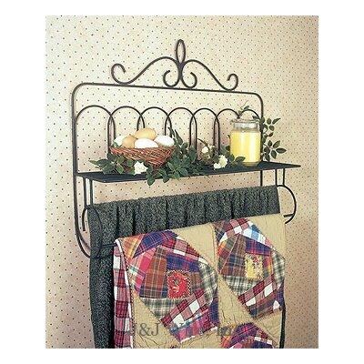 J J Wire Victorian Quilt Rack With Shelf Reviews Wayfair