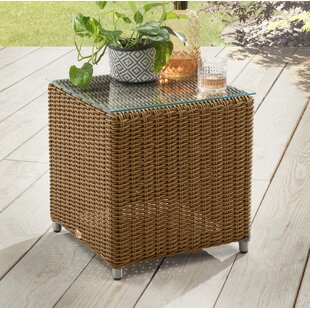 Larrison Cubus Polyrattan Side Table Image