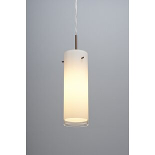 Cyrus 1 LED Cylinder Pendant by Bruck Lighting