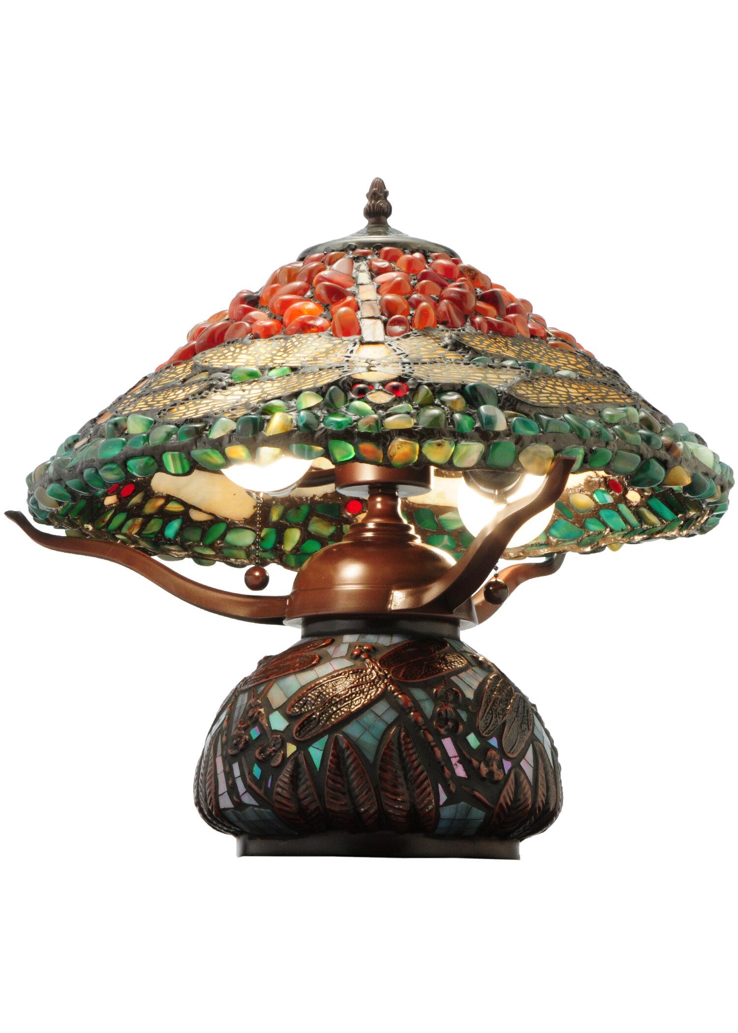 Meyda Tiffany Dragonfly Polished Agata 16 5 Table Lamp Wayfair